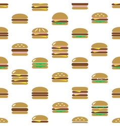 Colorful hamburgers types fast food modern simple vector