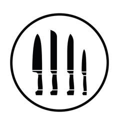 Kitchen knife set icon vector