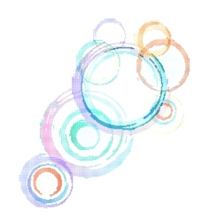 Abstract colorful background with grunge circles vector