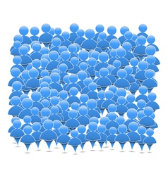 Abstract crowd of people vector image vector image