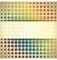 Abstract retro circles vector image vector image
