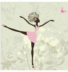 ballerina girl vector image vector image