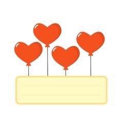 Balloons hearts set vector