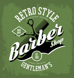 Barber shop or vintage haircut salon sign vector