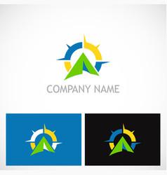 Camping north star business logo vector