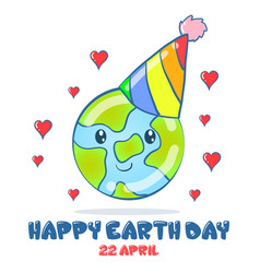 Collection design earth day vector