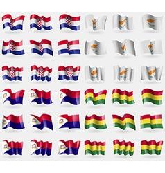 Crotia cyprus saint martin bolivia set of 36 flags vector