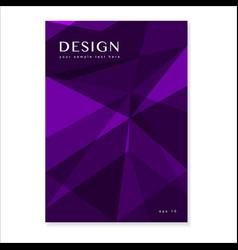 dark violet polygonal background vector image