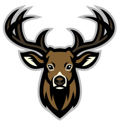 Deer head mascot vector