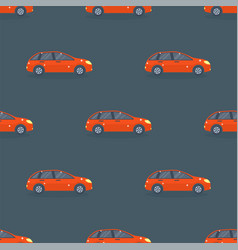 Flat red car vehicle type design sedan seamless vector