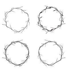 Floral round wreath vector