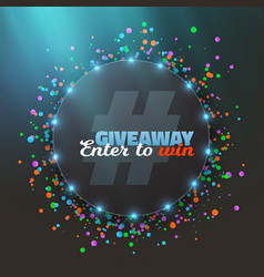 Giveaway button vector