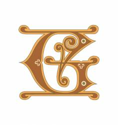 golden letter g vector image vector image