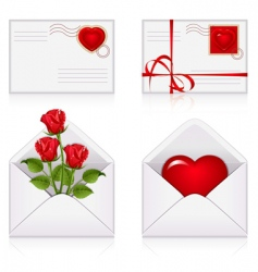 love envelopes vector image