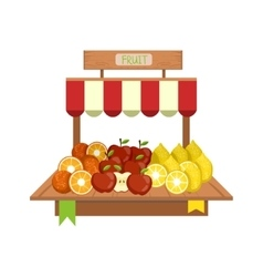 Market Fruit Display vector image