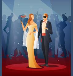 masquerade party vector image vector image