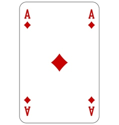 Poker playing card Ace diamond vector image vector image
