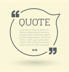 quote mock up vector image