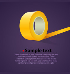 roll of clear sticky tape vector image vector image