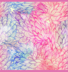 Seamless floral grunge blue and violet pattern vector