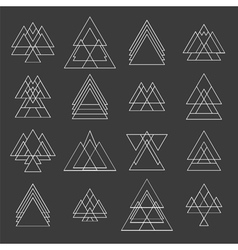 Set of trendy geometric shapes Geometric hipster vector image