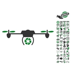 Shutter spy airdrone icon with bonus vector