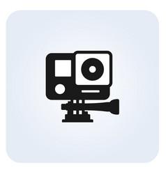 Simple action camera icon vector