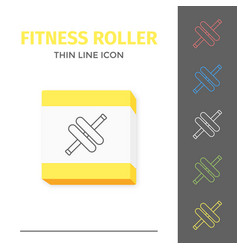 simple line stroked handle fitness roller vector image vector image