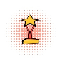 Star award comics icon vector