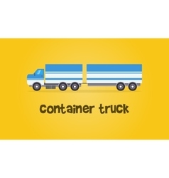 Style container truck of vector image
