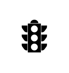traffic light solid icon stoplight and navigation vector image vector image