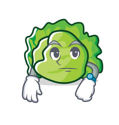 Waiting lettuce character mascot style vector