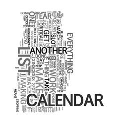 Your sexy calendar text word cloud concept vector