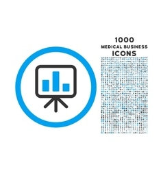 Slideshow screen rounded icon with 1000 bonus vector