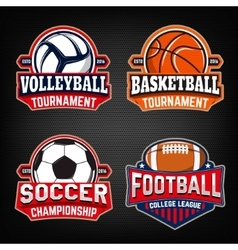 Set of basketball football soccer volleyball vector