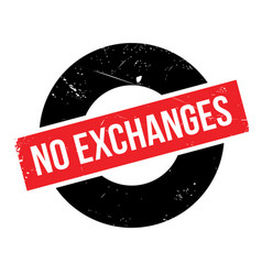 No exchanges rubber stamp vector