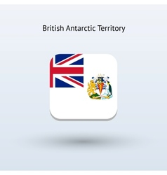 British antarctic territory flag icon vector