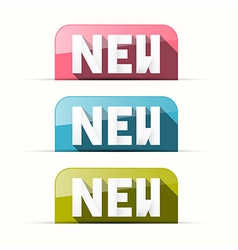 Paper pink blue green new tags vector