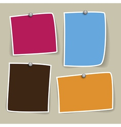 Colored paper designs vector