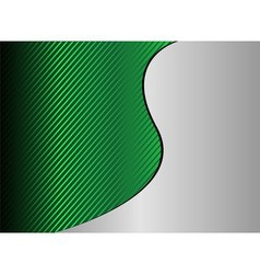Green wave stripe background with place for vector