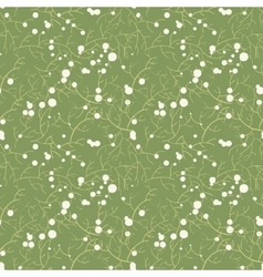Seamless pattern of twigs vector