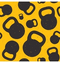 Kettle bell seamless pattern vector