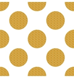 Golden seamless pattern with circles vector