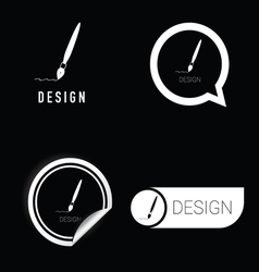 Design icon in black and white vector