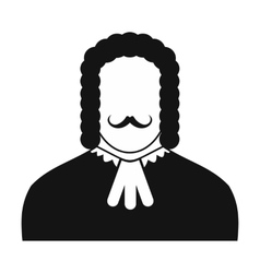 Judge black icon vector