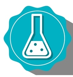 Chemistry flask icon vector