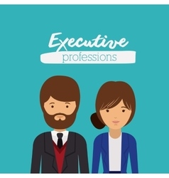 executive couple design vector image