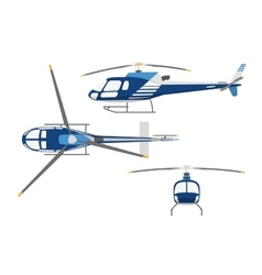 Drawing a helicopter in a flat style vector