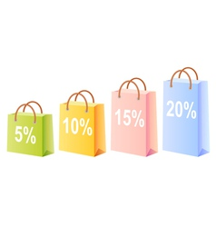 Shopping bags and discount vector