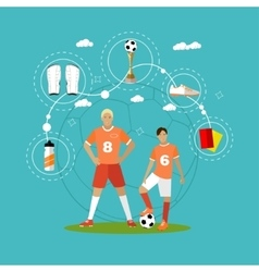 Soccer player with equipment sport concept vector